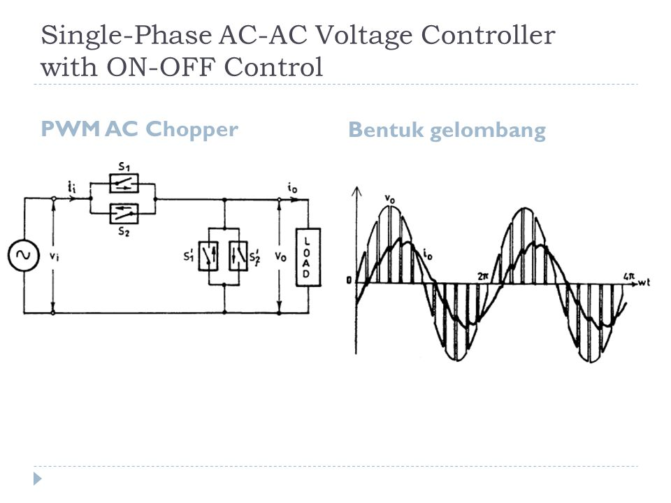 Single-Phase AC-AC Voltage Controller with ON-OFF Control