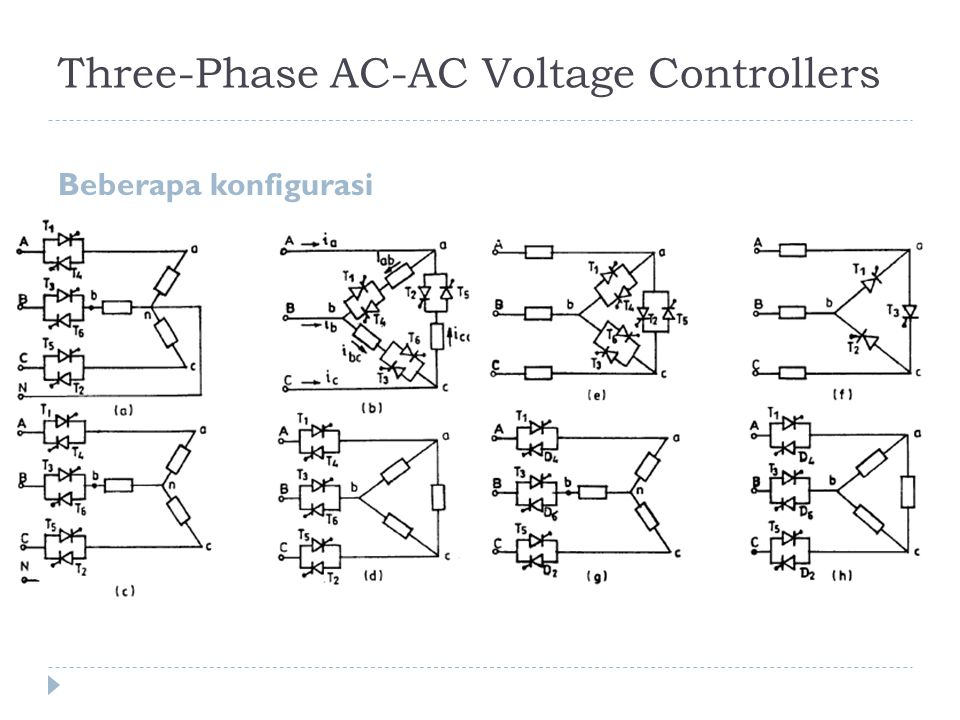 Three-Phase AC-AC Voltage Controllers
