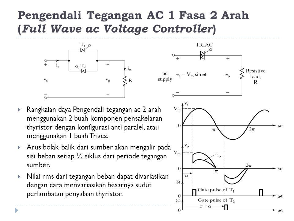 Pengendali Tegangan AC 1 Fasa 2 Arah (Full Wave ac Voltage Controller)