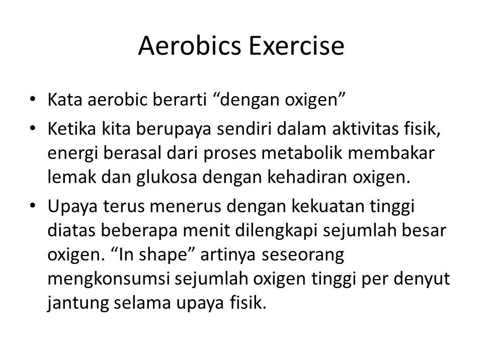 Aerobics Exercise Kata aerobic berarti dengan oxigen