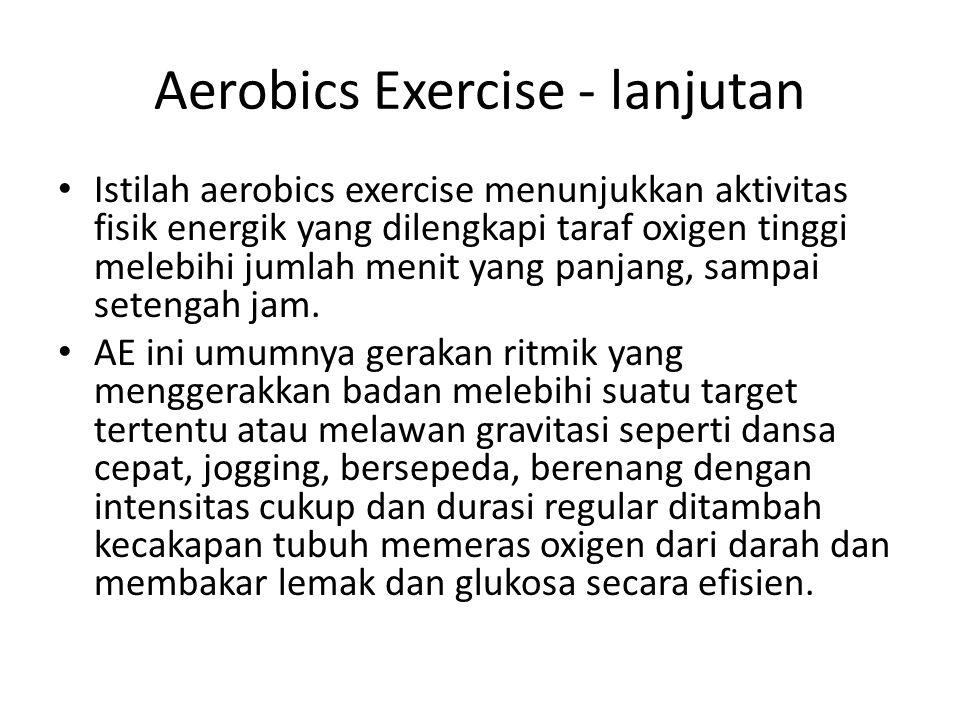 Aerobics Exercise - lanjutan
