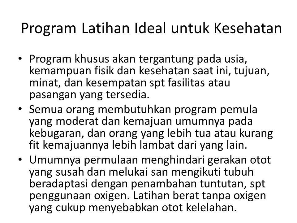 Program Latihan Ideal untuk Kesehatan