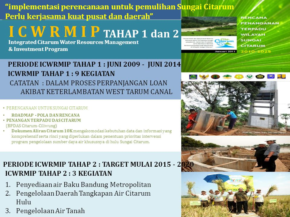 implementasi perencanaan untuk pemulihan Sungai Citarum