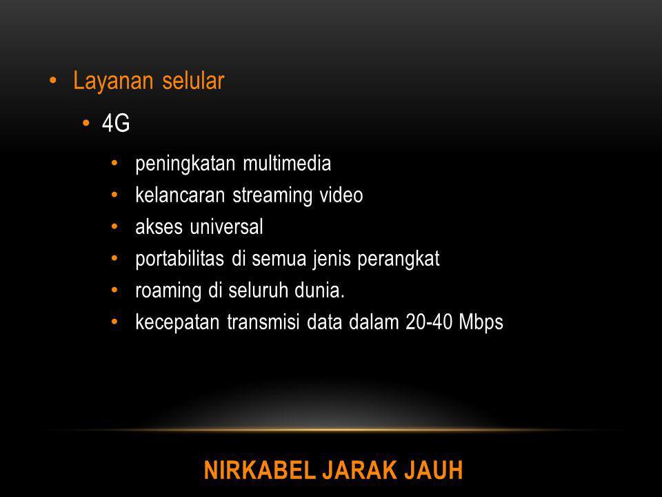 Layanan selular 4G Nirkabel Jarak Jauh peningkatan multimedia