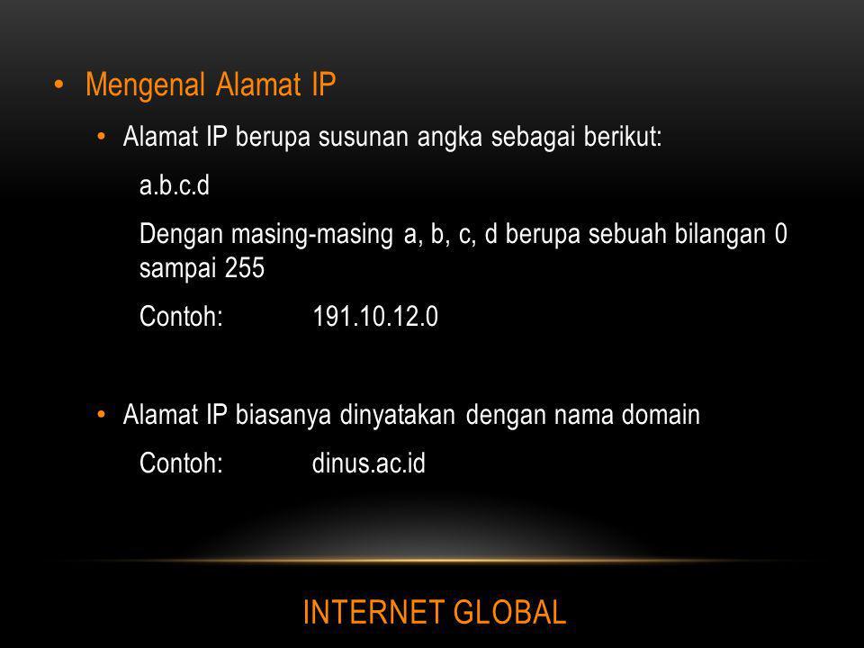 Mengenal Alamat IP INTERNET GLOBAL