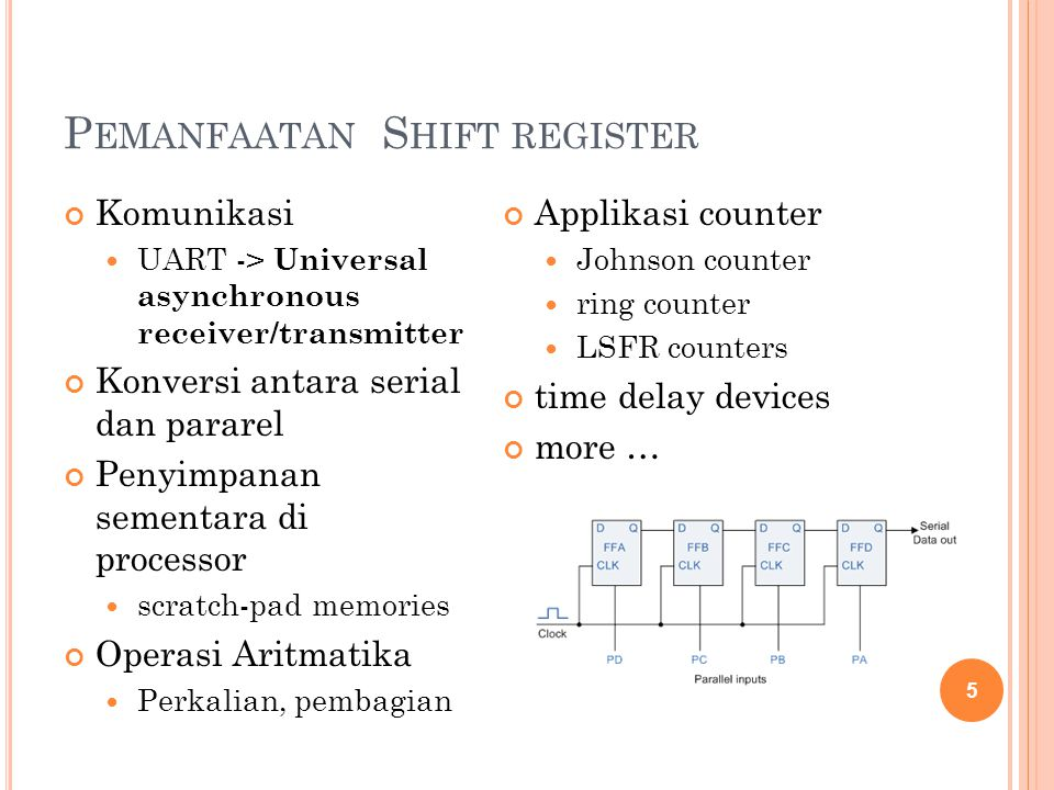 Pemanfaatan Shift register