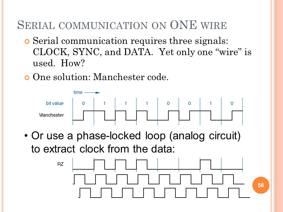 Serial communication on ONE wire