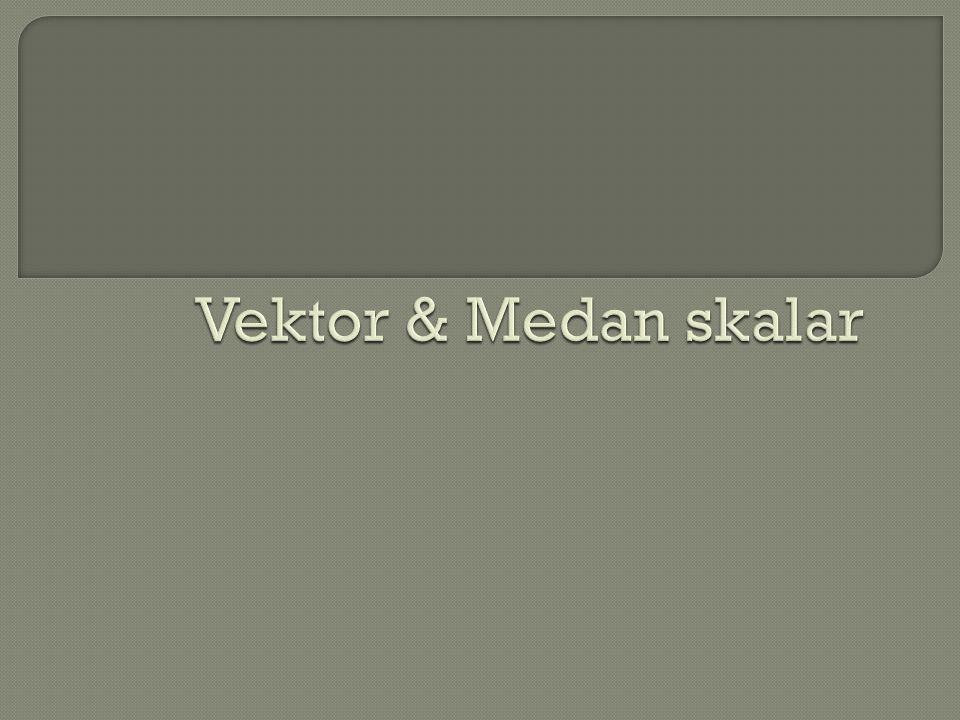 Vektor & Medan skalar