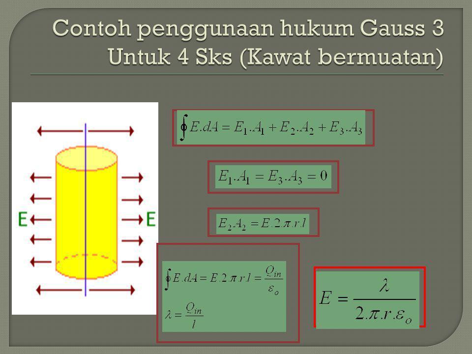 Contoh penggunaan hukum Gauss 3 Untuk 4 Sks (Kawat bermuatan)
