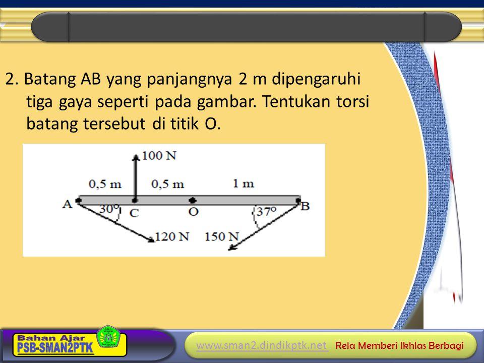 2. Batang AB yang panjangnya 2 m dipengaruhi