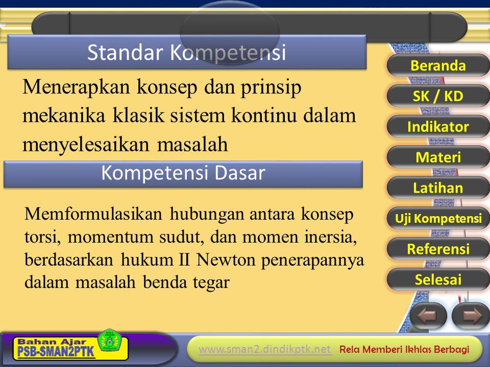 Standar Kompetensi Kompetensi Dasar Menerapkan konsep dan prinsip