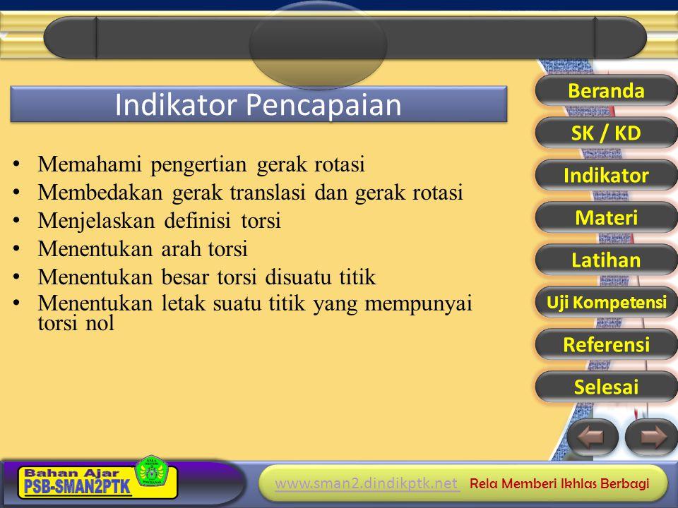 Indikator Pencapaian Memahami pengertian gerak rotasi