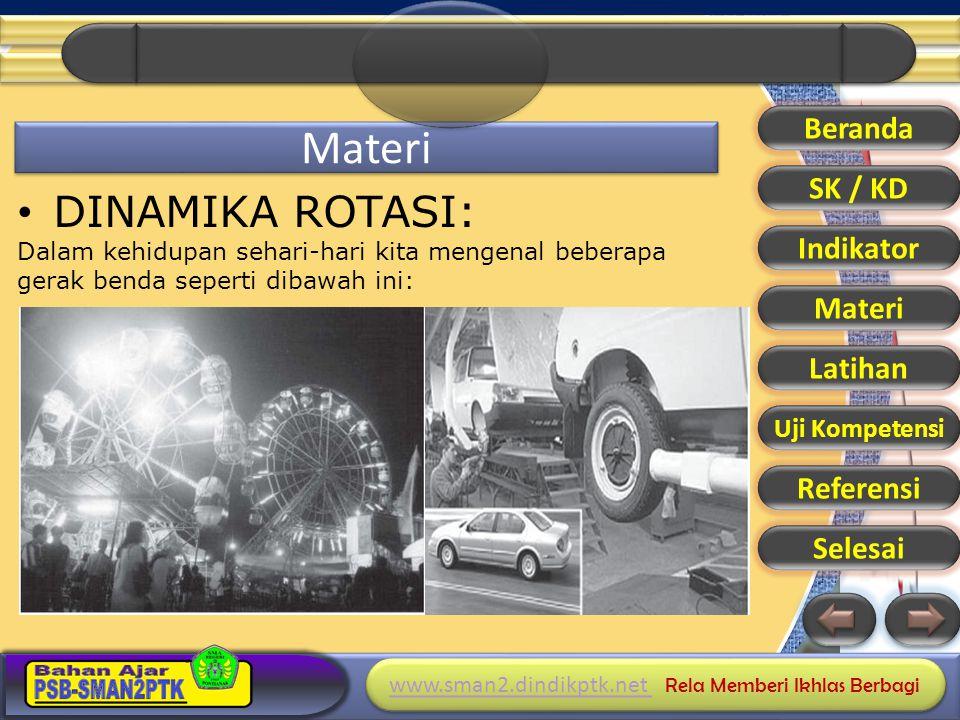 Materi DINAMIKA ROTASI: Beranda SK / KD Indikator Materi Latihan