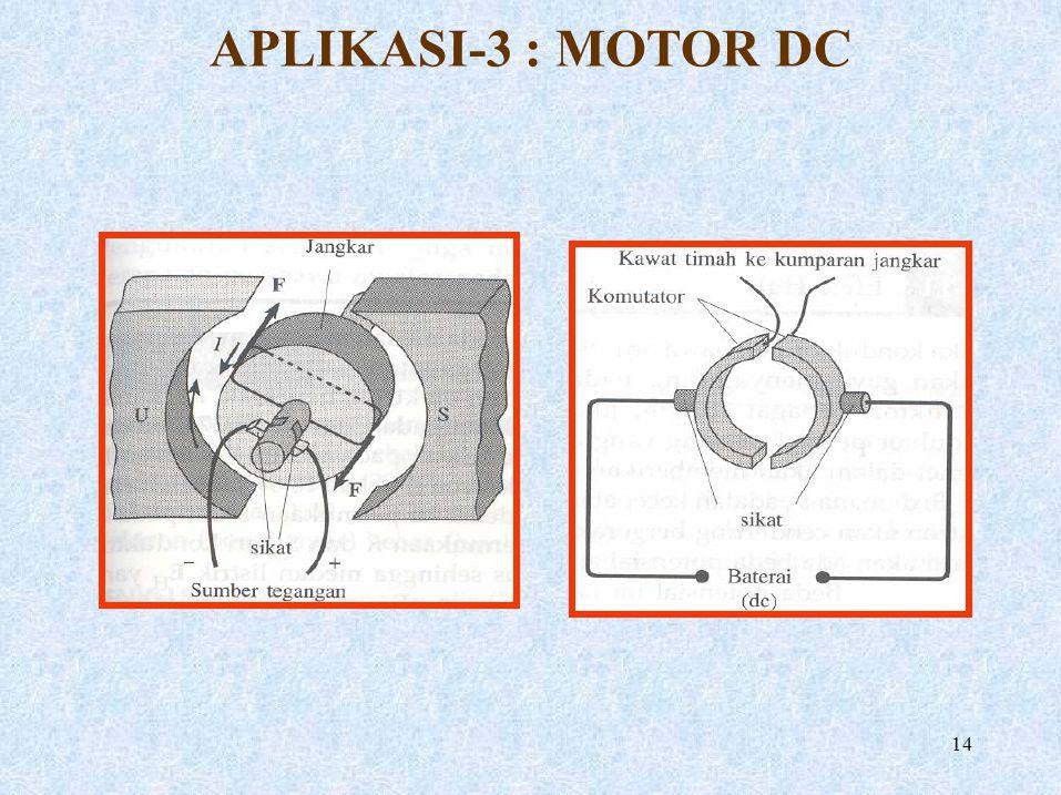APLIKASI-3 : MOTOR DC 14