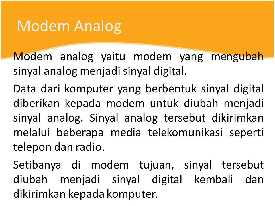 Modem Analog