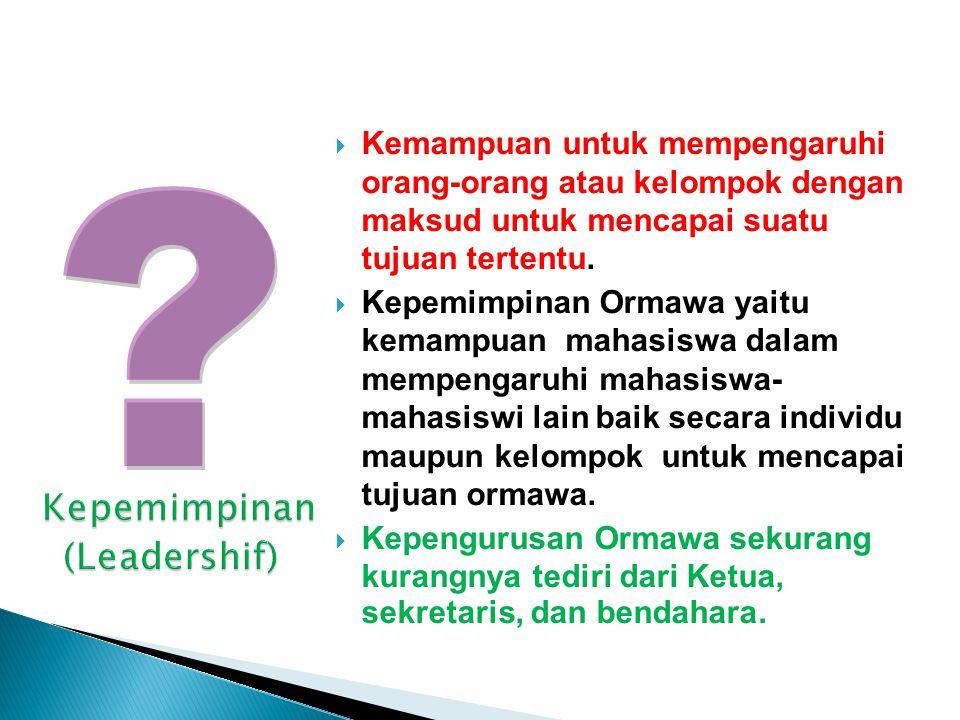 Kepemimpinan (Leadershif)