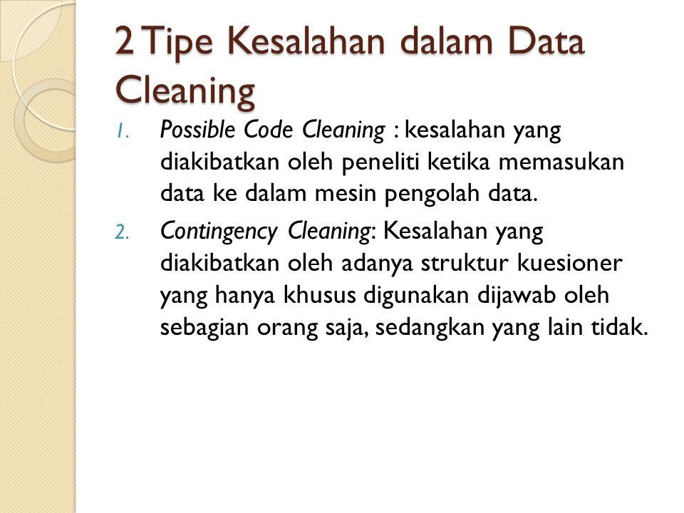 2 Tipe Kesalahan dalam Data Cleaning