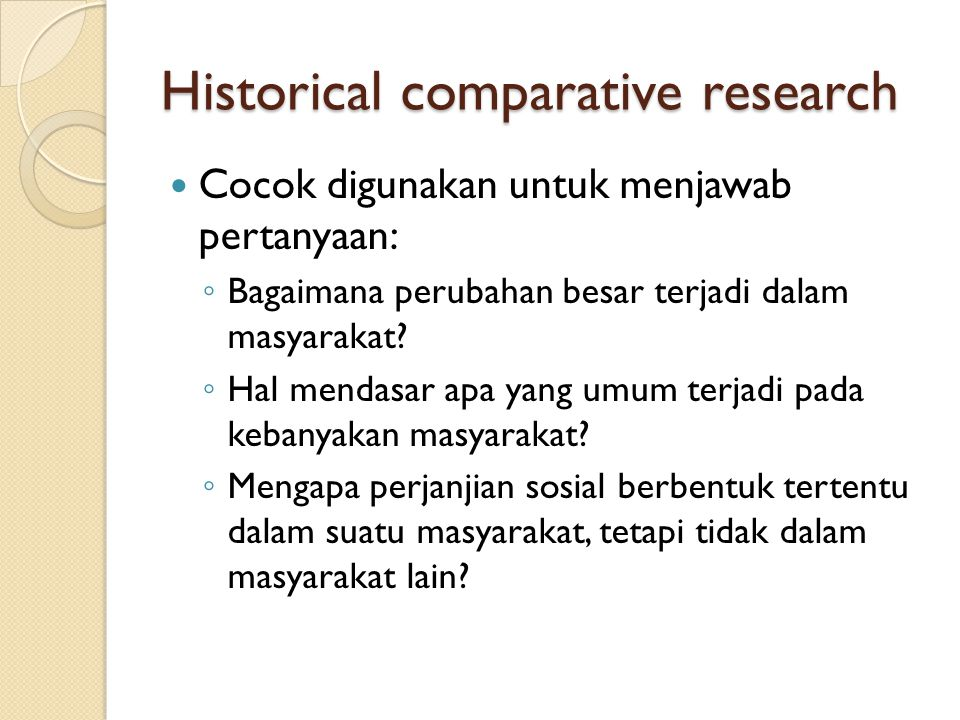 Historical comparative research