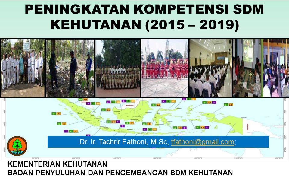 PENINGKATAN KOMPETENSI SDM KEHUTANAN (2015 – 2019)