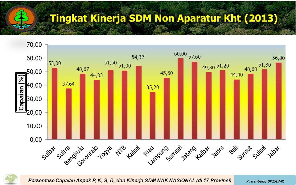 Tingkat Kinerja SDM Non Aparatur Kht (2013)