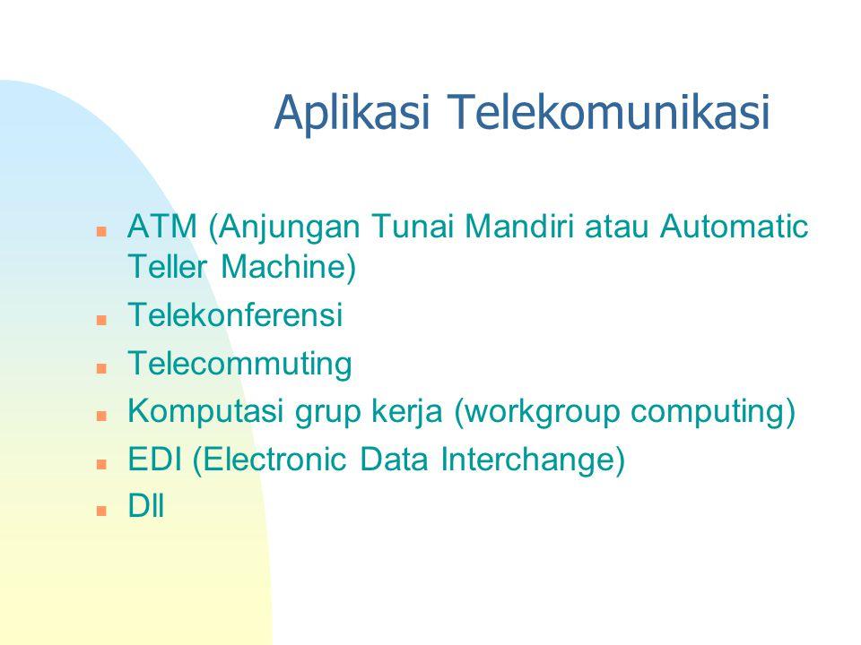 Aplikasi Telekomunikasi