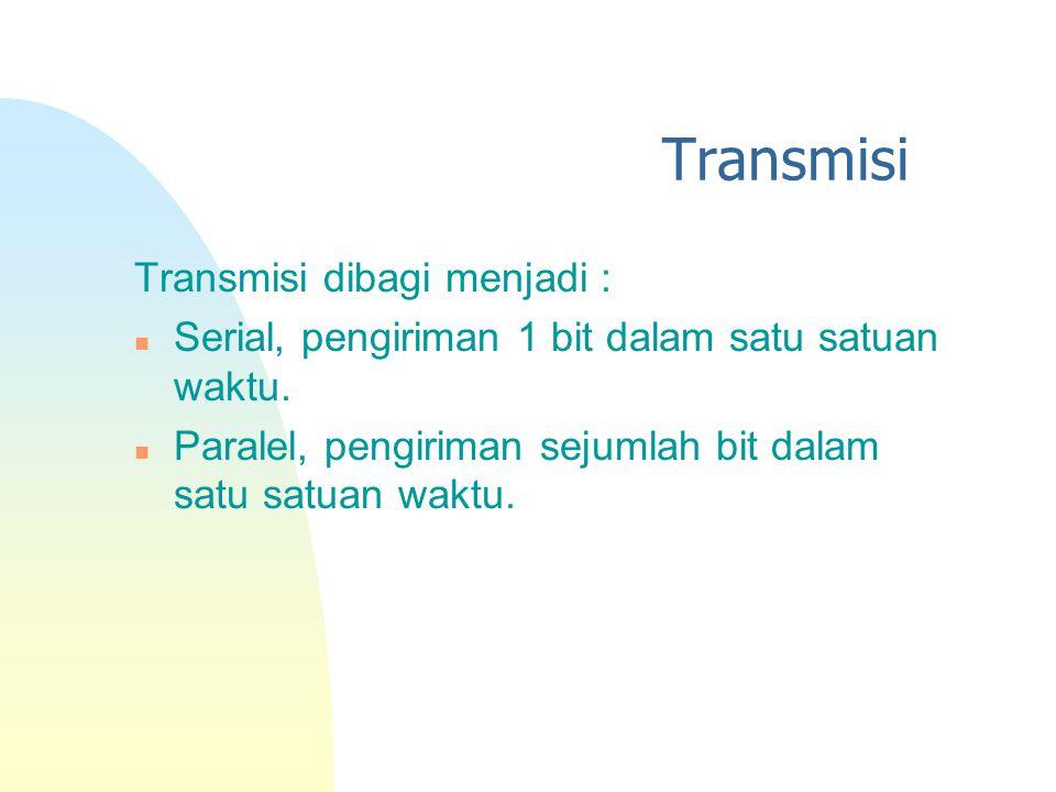 Transmisi Transmisi dibagi menjadi :