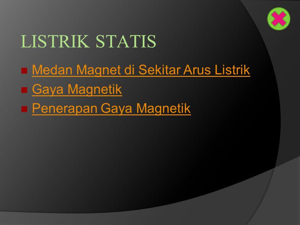 LISTRIK STATIS Medan Magnet di Sekitar Arus Listrik Gaya Magnetik