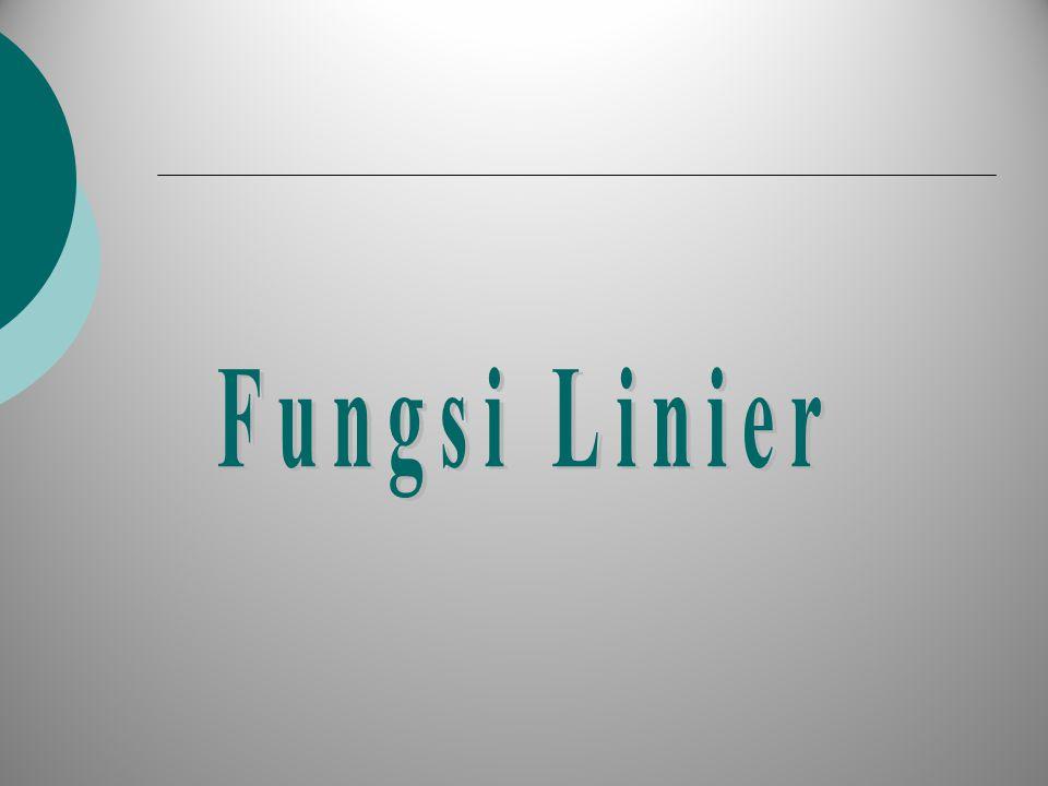 Fungsi Linier