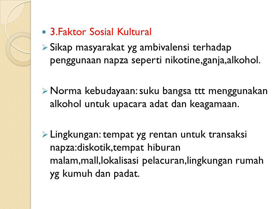 3.Faktor Sosial Kultural