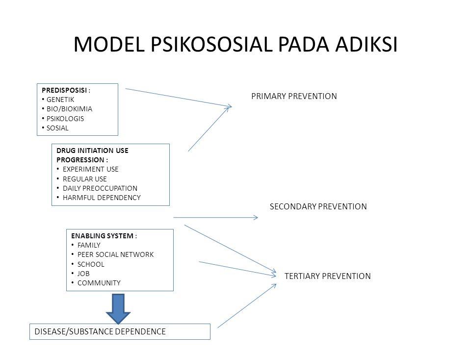 MODEL PSIKOSOSIAL PADA ADIKSI