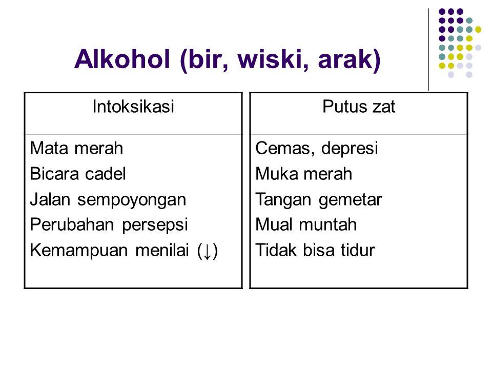 Alkohol (bir, wiski, arak)