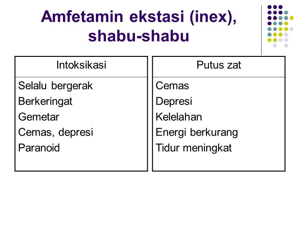 Amfetamin ekstasi (inex), shabu-shabu