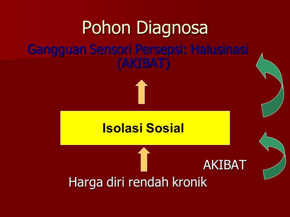 Pohon Diagnosa Gangguan Sensori Persepsi: Halusinasi (AKIBAT) AKIBAT