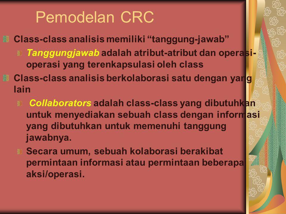 Pemodelan CRC Class-class analisis memiliki tanggung-jawab