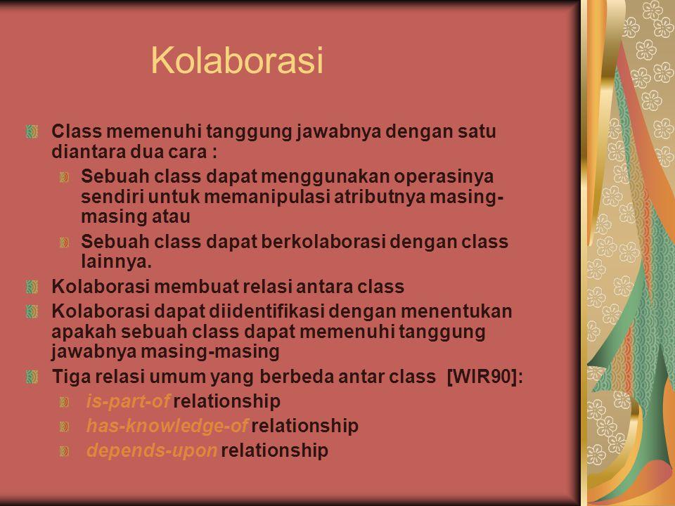 Kolaborasi Class memenuhi tanggung jawabnya dengan satu diantara dua cara :