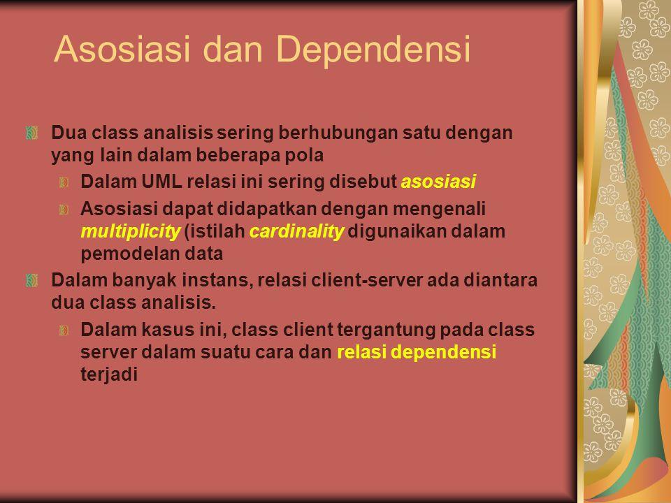 Asosiasi dan Dependensi