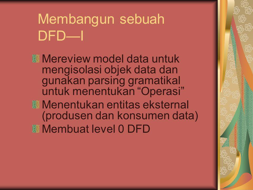 Membangun sebuah DFD—I