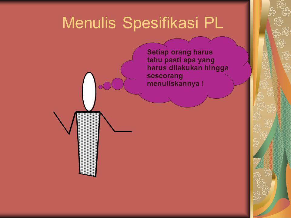 Menulis Spesifikasi PL