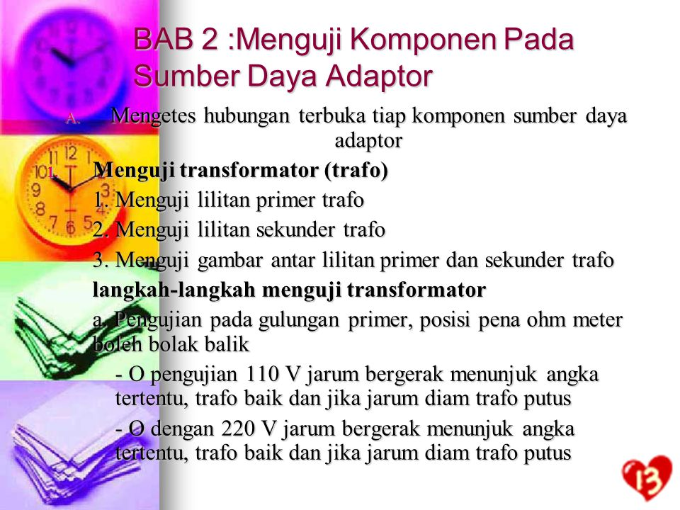 BAB 2 :Menguji Komponen Pada Sumber Daya Adaptor