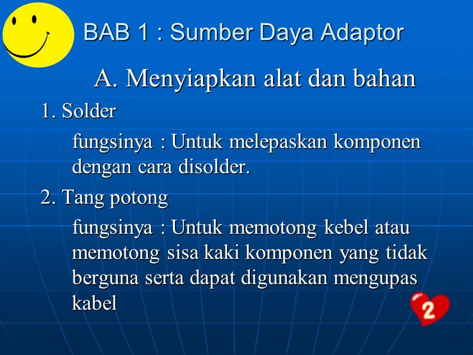 BAB 1 : Sumber Daya Adaptor