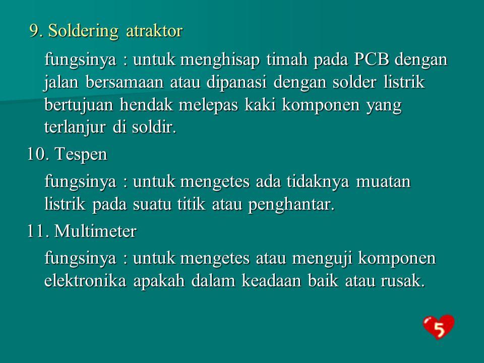 9. Soldering atraktor