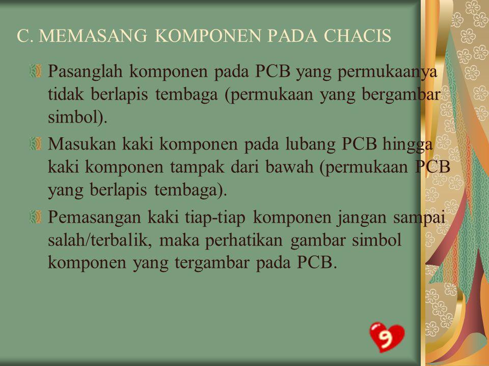 C. MEMASANG KOMPONEN PADA CHACIS