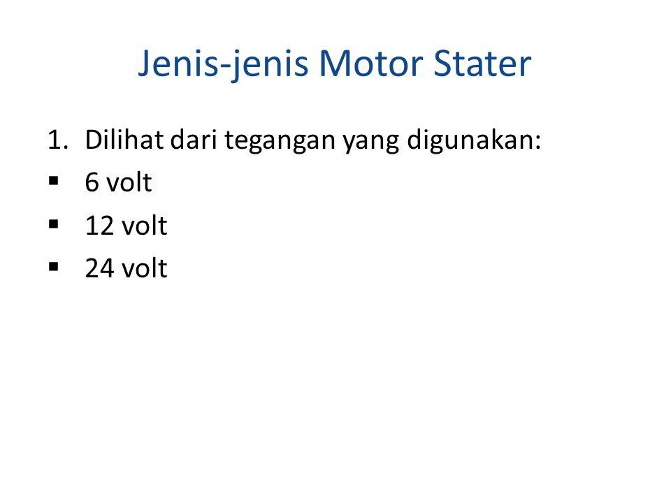 Jenis-jenis Motor Stater
