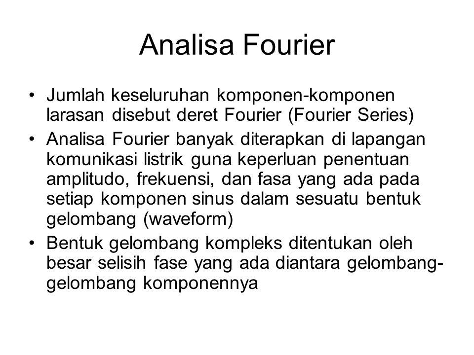 Analisa Fourier Jumlah keseluruhan komponen-komponen larasan disebut deret Fourier (Fourier Series)
