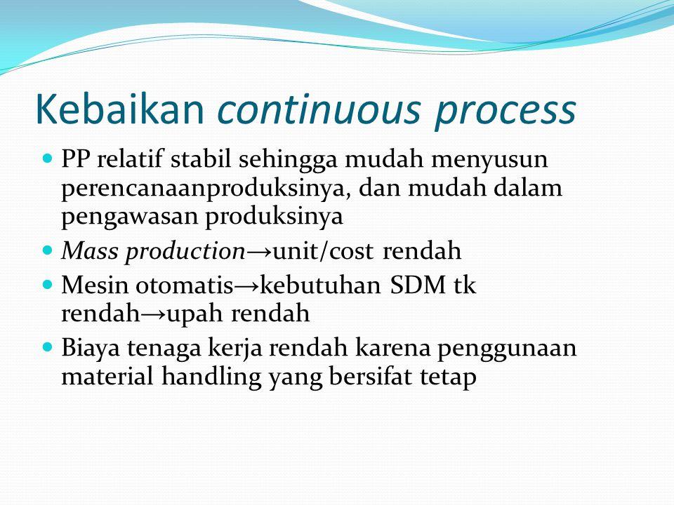 Kebaikan continuous process