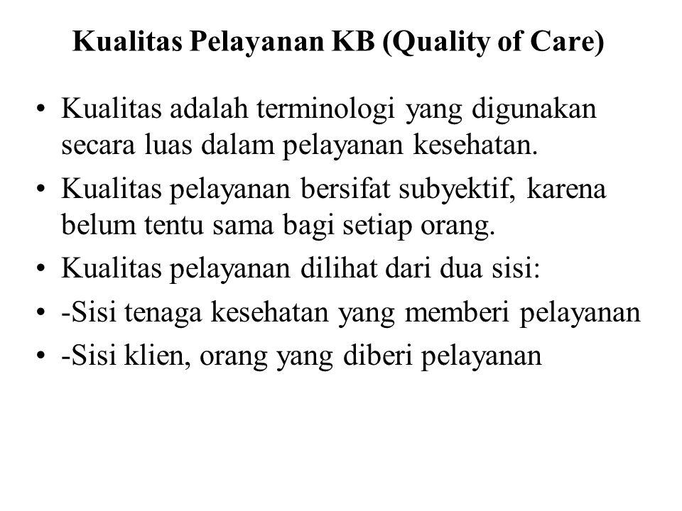 Kualitas Pelayanan KB (Quality of Care)