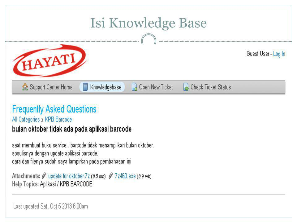 Isi Knowledge Base