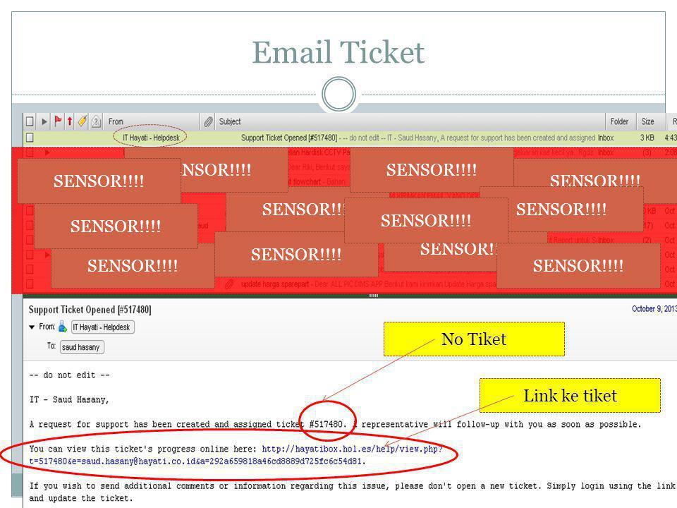 Email Ticket SENSOR!!!! SENSOR!!!! SENSOR!!!! SENSOR!!!! SENSOR!!!!