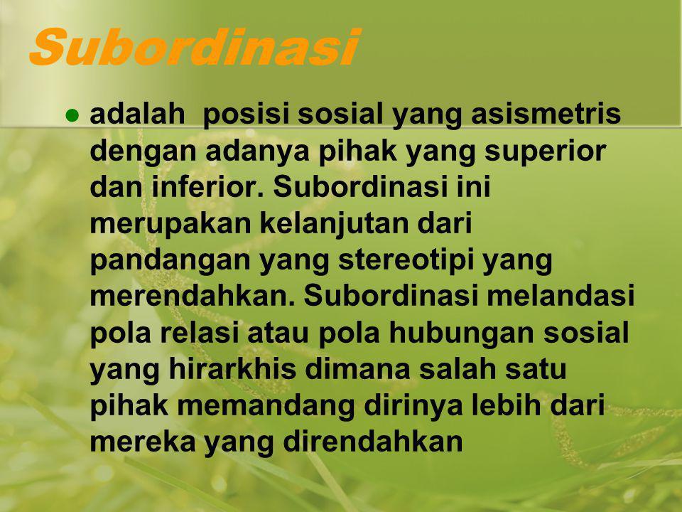 Subordinasi