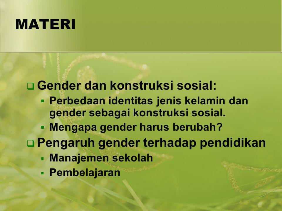 MATERI Gender dan konstruksi sosial:
